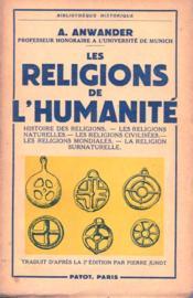 Les religions de l'humanité. - Couverture - Format classique
