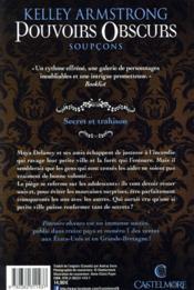 Pouvoirs obscurs T.5 ; soupçons - 4ème de couverture - Format classique