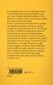 Prendre dates ; Paris, 6 janvier-14 janvier 2015 - 4ème de couverture - Format classique