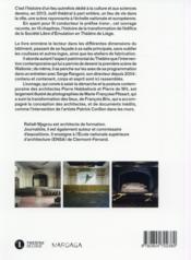Théâtre de Liège ; en transparences - 4ème de couverture - Format classique