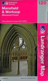 Mansfield-Worksop 1/50 000 - Couverture - Format classique
