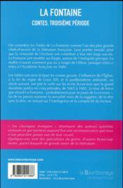 Contes, troisième période - 4ème de couverture - Format classique