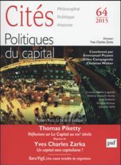Revue Cites T.64 ; Politiques Du Capital - Couverture - Format classique