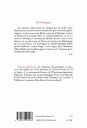 Déshéritages - 4ème de couverture - Format classique