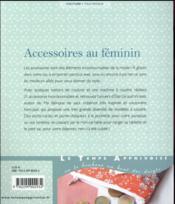 Accessoires au féminin - 4ème de couverture - Format classique