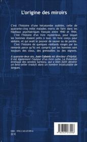 L'origine des miroirs roman - Couverture - Format classique