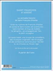 Saint Francois d'Assise raconté par Téo - 4ème de couverture - Format classique