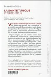 La sainte tunique d'Argenteuil - 4ème de couverture - Format classique