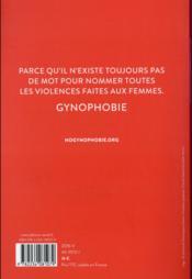 Ensemble contre la gynophobie - 4ème de couverture - Format classique