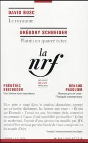 La Nouvelle Revue Francaise N.619 - Couverture - Format classique