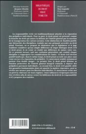 Responsabilité civile et responsabilité pénale ; à la recherche d'une cohérence perdue - 4ème de couverture - Format classique