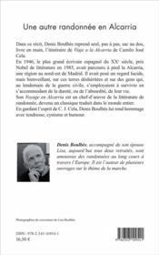 Une autre randonnée en Alcarria ; hommage à Camilo José Cela - 4ème de couverture - Format classique