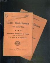 APOLOGETIQUE CONTEMPORAINE - LES GUERISSONS DE LOURDES - RAPPORTS PRESENTES A PARIS - 2 SERIES - 2ème SERIE.30 NOVEMBRE 1913 et 3ème SERIE.30 JANVIER 1916. - Couverture - Format classique