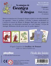 La mission de Georges le dragon - 4ème de couverture - Format classique