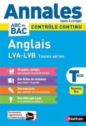 Annales ABC du bac ; sujets & corrigés ; anglais : terminale (édition 2020) - Couverture - Format classique