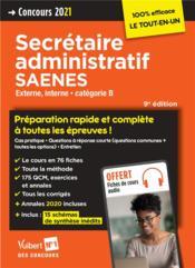 Concours secrétaire administratif et SAENES ; categorie B ; préparation rapide et complète à toutes les épreuves ! - Couverture - Format classique