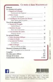 MAGNIFICAT N.337 ; décembre 2020 - 4ème de couverture - Format classique