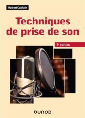 Techniques de prise de son (7e édition) - Couverture - Format classique