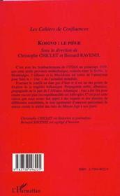 Kosovo ; Le Piege - 4ème de couverture - Format classique