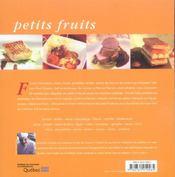 Petits fruits - 4ème de couverture - Format classique