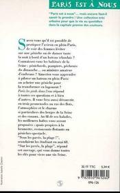 Paris, Les Pieds Dans L'Eau - 4ème de couverture - Format classique