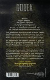 Le codex - 4ème de couverture - Format classique