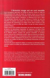 L'armoire rouge ; mémoires d'un journaliste, du communisme à la météo - 4ème de couverture - Format classique