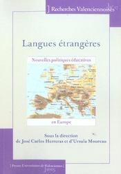 Langues etrangeres. nouvelles politiques educatives en europe - Intérieur - Format classique