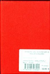 Le nez du vin ; clin de nez - 4ème de couverture - Format classique