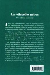 Les Etincelles Noires - Une Enfance Alsacienne - 4ème de couverture - Format classique