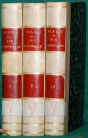 PRÆLECTIONES JURIS CANONICI HABITÆ IN SEMINARIO SANCTI SULPITII, 5èmeéd. - Couverture - Format classique