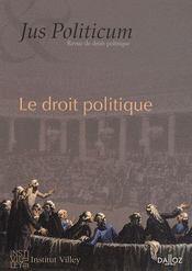 Jus politicum N.1 ; le droit politique - Couverture - Format classique