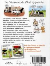 Les vacances du chat hypocrite - 4ème de couverture - Format classique