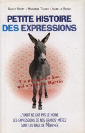 Petite histoire des expressions - Couverture - Format classique