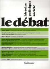 Revue Le Débat N.168 - Couverture - Format classique