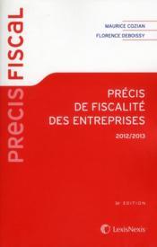 Précis de fiscalité des entreprises (36e édition) - Couverture - Format classique