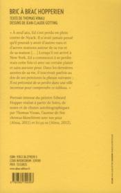 Bric à brac hopperien - 4ème de couverture - Format classique