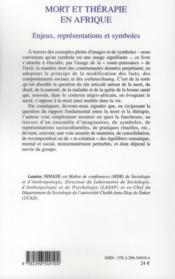 Mort et thérapie en Afrique ; enjeux, représentations et symboles - 4ème de couverture - Format classique