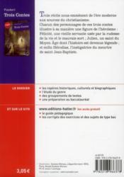 Trois contes - 4ème de couverture - Format classique
