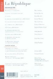 Revue Pouvoirs N.100 - 4ème de couverture - Format classique