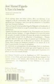 Eau A La Bouche (L') - 4ème de couverture - Format classique