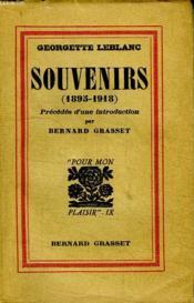 Souvenirs 1895-1918. - Couverture - Format classique