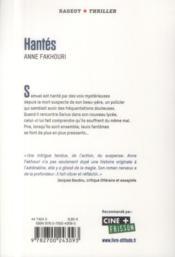 Hantès - 4ème de couverture - Format classique