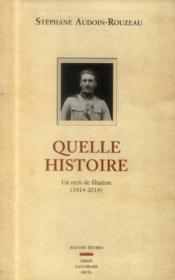 Quelle histoire ; un récit de filiation (1914-2014) - Couverture - Format classique