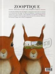Zooptique ; imagine ce que les animaux voient - 4ème de couverture - Format classique