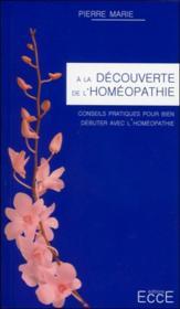 À la découverte de l'homéopathie - Couverture - Format classique