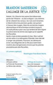 Fils-des-Brumes T.4 ; l'alliage de la justice - 4ème de couverture - Format classique