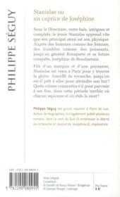 Stanislas ou un caprice de josephine - 4ème de couverture - Format classique