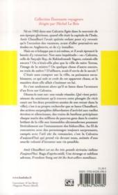 Calcutta - 4ème de couverture - Format classique