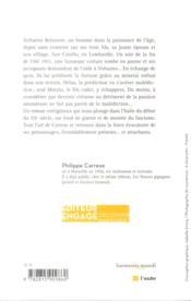La virtuosité obstiné - 4ème de couverture - Format classique